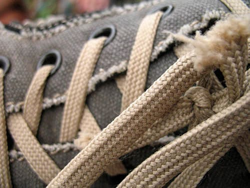 frayed laces