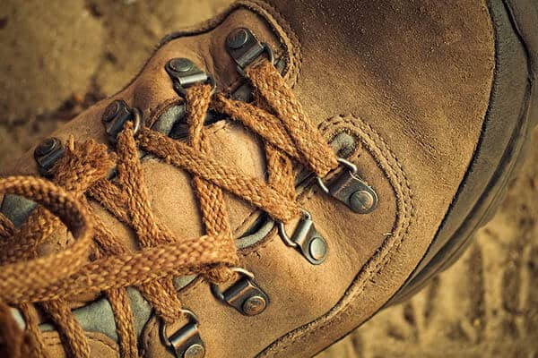 when to replace hiking boots - worn eyelets