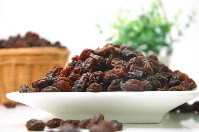 raisins - snack for hiking